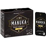 Kiva Raw Manuka Honey SNAP-Packets, Certified UMF 20+, New Zealand (28 Count | On-The-Go Packets)