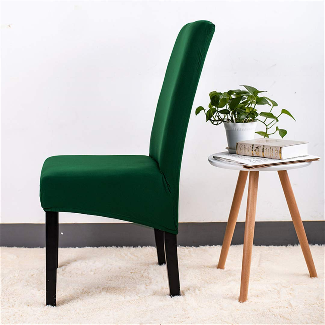 Solid Printing Flexible Elastic Anti-Dirty Big Chair Cover Banquet Hotel Dining Home Decoration Chair Slipcover Large Size XL Green XL Size
