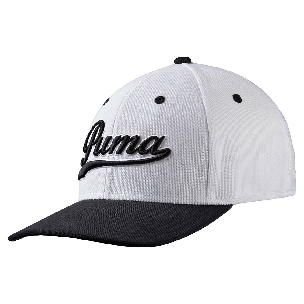 5b3f0c33c13 Puma Script Fitted Cap Golf Hat 052960 09 Peacoat Folkstone Gray - S M   Amazon.co.uk  Sports   Outdoors