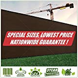 ColourTree Customized Size Fence Screen Privacy Screen Brown - Commercial Grade 170 GSM - Heavy Duty - 3 Years Warranty (1, 5' x 76')