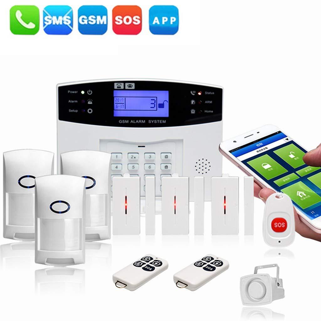 ☀ Dergo ☀ GSM Wireless Home Burglar Alarm System SOS Motion Door Window Sensor Security by Dergo