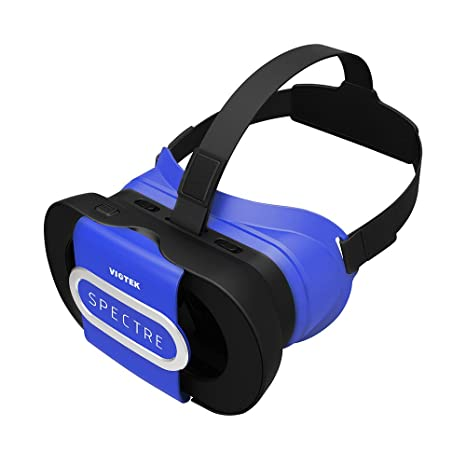 ce489feb29 Buy Viotek Spectre VR Headset - 3D Virtual Reality Glasses fits 4.5-6 Inch  Mobile Phones - with Collapsible Frame   Hard Shell Carrying Case Online at  Low ...