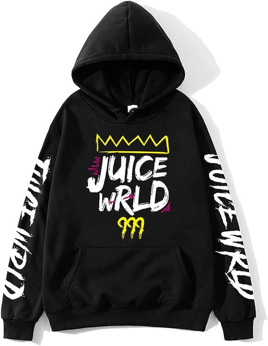 DISINIBITA Unisex Juice Wrld Hoodie Hip Hop Hooded Sweatshirt for Fans