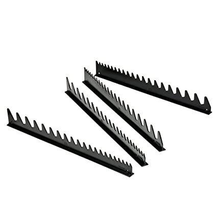 Ernst Manufacturing Wrench Rail Set with Tape, 40 Tool, Black