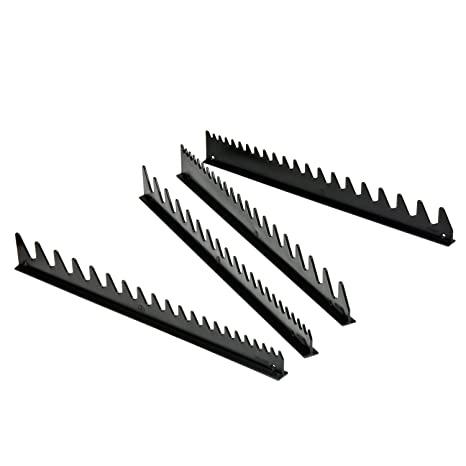 Ernst Manufacturing Wrench Rail Set with Magnetic Backing, 40 Tool, Black