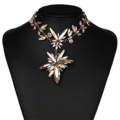 727f64776 Color: Holylove Tawny Costume Statement Necklace for Women Jewelry Fashion  Necklace 1 pc with Gift Box-