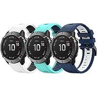 Classicase Watch Strap compatibel met Garmin Instinct/Instinct Solar/Instinct Tactical, Soft Silicone Narrow Slim Sport…