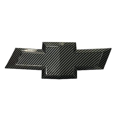 car sales 2011-2014 Chevy Cruze Rear Bumper Emblem Carbon Fibre Grille Badge Grill Sign Symbol Logo (carbon fibre, rear): Automotive