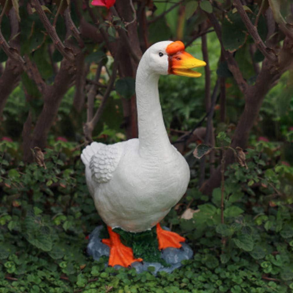 WAYERTY Resin Garden Patio Goose Statues Decor Outdoor Realistically Animal Sculptures Lawn Backyard Home Decor Ornaments Yard Art Figurines B 23x14x36cm(9x6x14inch)