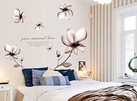 ufengke® stile classico bellissimi fiori adesivi murali, camera da ... - Stickers Murali Camera Da Letto