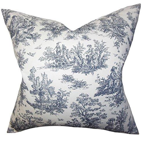The Pillow Collection Lalibela Toile Bedding Sham Black, Queen/20
