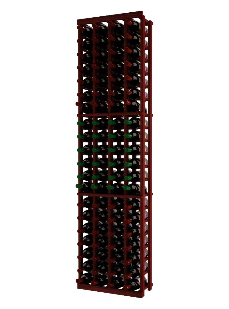 Wine Cellar Innovations RP-CM-4COL-A3 Traditional Series 4 Column Wine Rack, Rustic Pine, Classic Mahogany Stain