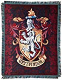 Warner Brothers JK Rowling Harry Potter, Gryffindor Shield Woven Tapestry Throw Blanket, 48'' x 60''