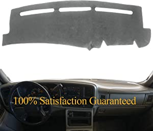 Dash Cover Mat Pad Custom Fit for 1999-2006 GMC Sierra/Chevy Chevrolet Silverado,2000-2006 GMC Yukon XL/Chevy Suburban Tahoe Avalanche,Dashboard Cover Carpet (99-06 Gray) Y55