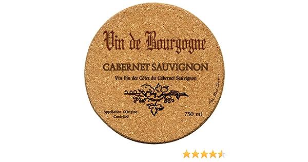 Amazon Com Thirstystone Cabernet Wine Label Cork Coaster Set Coasters