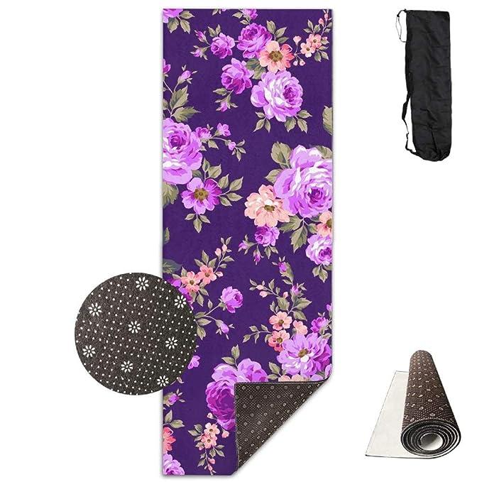 Amazon.com: Rose Flower Pattern Yoga Mat Towel for Bikram ...
