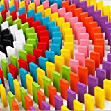 120 PCS Wooden Domino Set, Austark Funny Colorful Building and Stacking Tumbling Dominoes Game Blocks Early Intelligence Education Toys for Kids (12 Colors)
