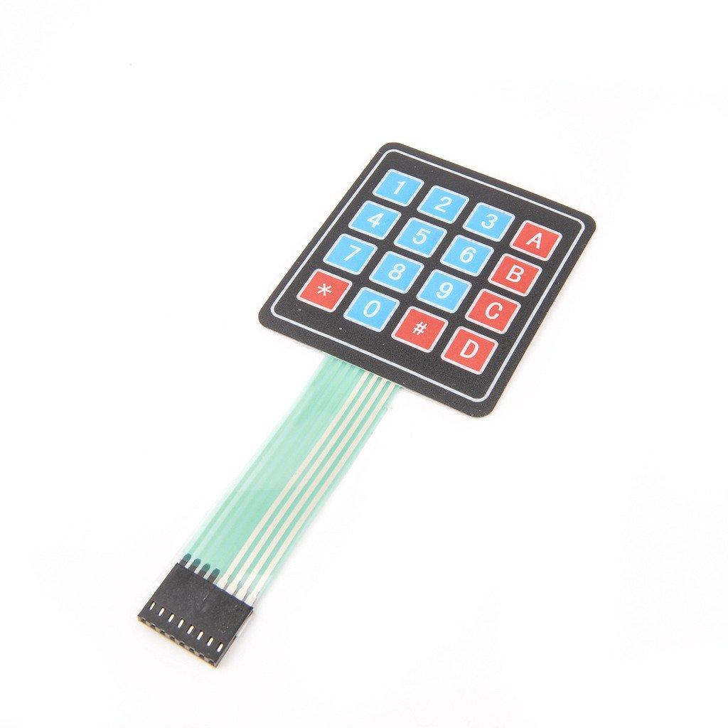 16 Key Membrane Switch Keypad Keyboard 4 x 4 Matrix Array Arduino Folientastatur