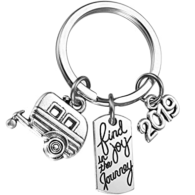 Amazon.com: MIXJOY 2019 Find Joy in The Journey Keychain ...