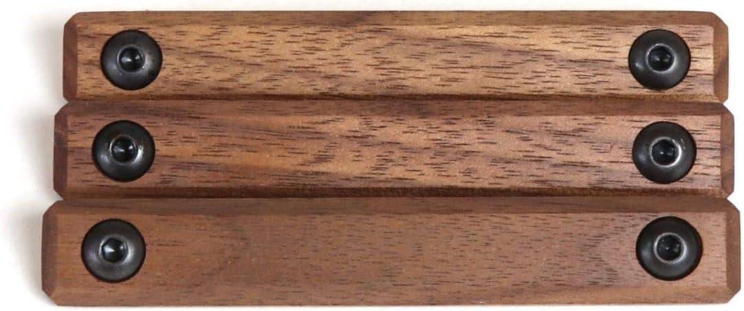 Black Wood USA Rail Panels, M-LOK, Walnut Wood 3-Piece