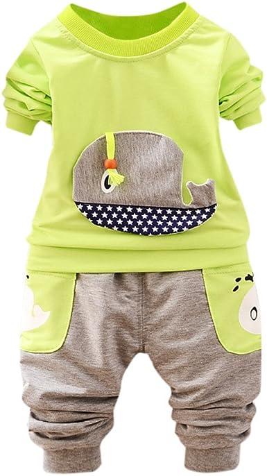 Ropa Bebe Unisex Ballena Impresión Camisa de Mangas largas y Pantalones para Recien Nacido Niñas Niños: Amazon.es: Ropa y accesorios