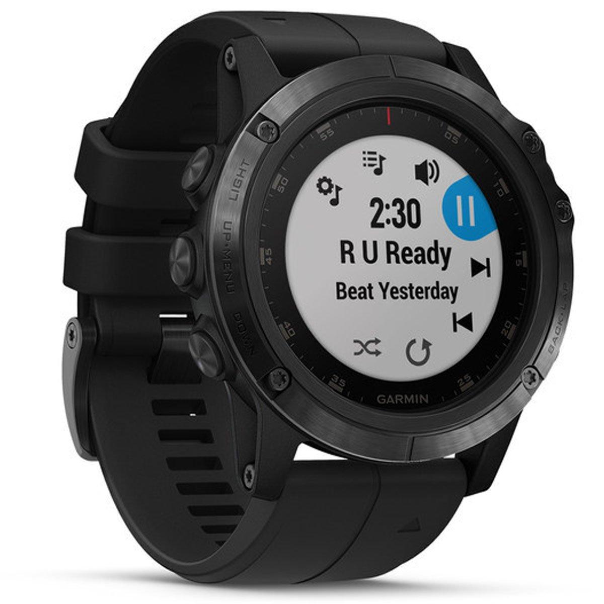 04303e64906 Relógio Multiesportivo Garmin Fenix 5X Plus Safira Preto com Monitor  Cardíaco no Pulso  Amazon.com.br  Eletrônicos
