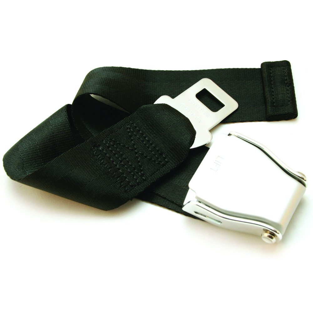 """Adjustable 7-24"""" Airplane Seatbelt Extender - FITS All Airlines (not Southwest) - Free Carrying Case - E4 Safety Certified (Not All Extenders are Certified, Choose The Safe Option)"""