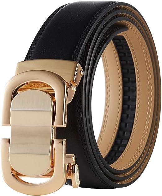 Men Belt Leather Genuine Automatic Buckle 7 Pattern Solid Crocodile Double Color