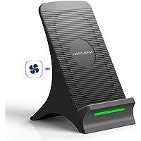 Fast Wireless Charger, NOVETE Qi Induktive Ladestation mit Lüfter 10W für Samsung Galaxy Note 9/S9/S9 Plus/S8/S8 Plus/Note 8/S7/S7 Edge/S6 Edge/Note 5, 7.5W für iPhone 8/8 Plus/iPhone X/XS/XS MAX/XR