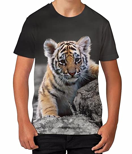 a07c4427 Amazon.com: Kids Graphic T Shirt Boys Top Tiger Cub Youth Tee Shirt:  Clothing