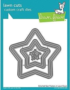 Lawn Fawn Lf1630 Lawn Cuts Custom Craft Die -Stitched Star Frames