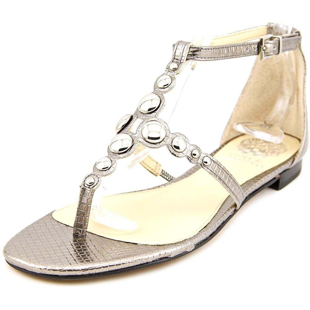 Vince Camuto Valia Women US 6.5 Silver Thong Sandal