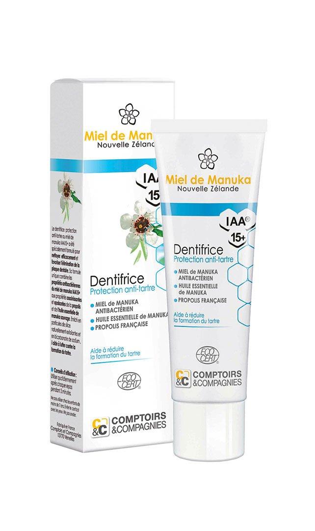 Negozi e Compagnie iaa15+ Dentifricio Anti calcare al miele di Manuka COMPTOIRS ET COMPAGNIES DM15T