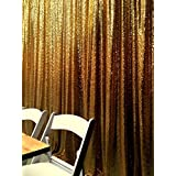 Gold Shimmer Sequin Fabric Photography Backdrop (4FTX6FT)