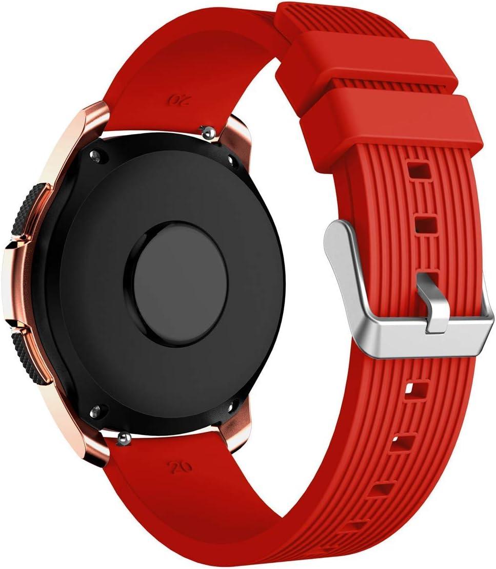 L@LILI Reloj para Samsung Galaxy (42 mm 46 mm) Vendas, Silicona Fitness Deporte reemplazo Correa de muñeca Pulsera de Reloj Inteligente,3,46mm