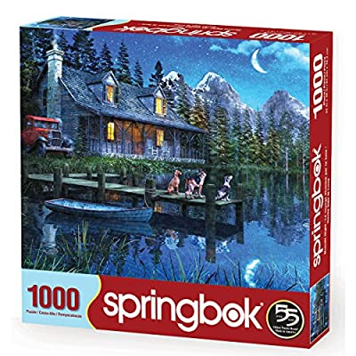 Springbok Puzzles - Moonlit Night - 1000 Piece Jigsaw Puzzle - Large 24 Inches by 30 Inches Puzzle - Made in USA - Unique Cut Interlocking Pieces: Toys & Games