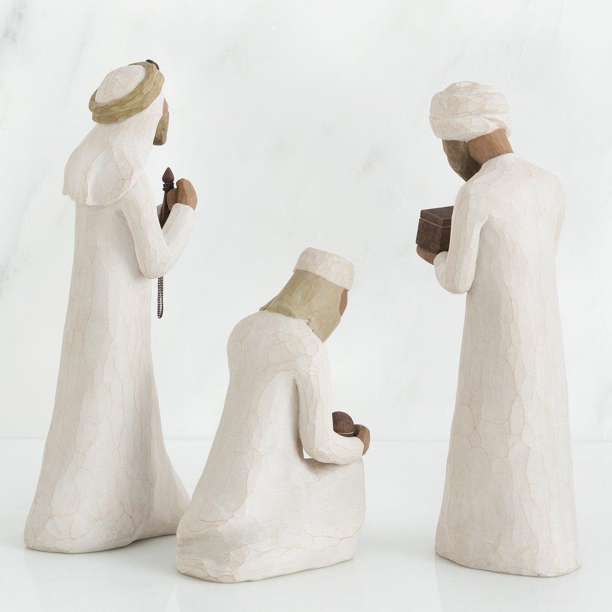 Willow Tree Figurillas Decorativas con dise/ño 22 x 1.1 cm Resina Blanco
