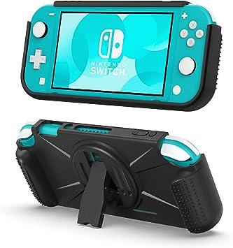 TiMOVO Funda Compatible con Nintendo Switch Lite, Cubierta Resistente con Asa Rellenos Integrados, 2 Bolsa de Juego ...