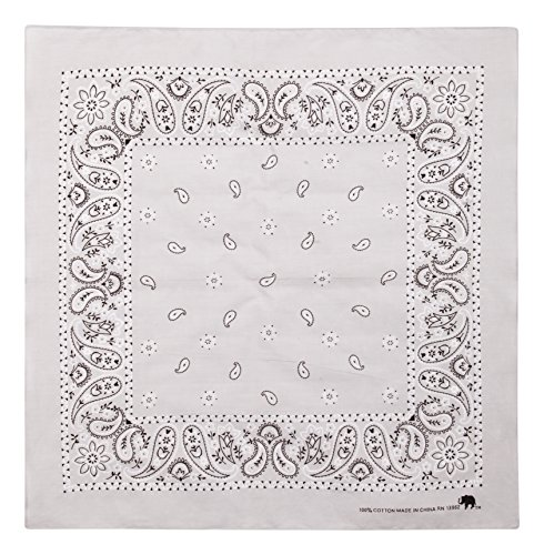 - Elephant Brand Bandanas 100% cotton since 1898-12 Pack (Light Grey)