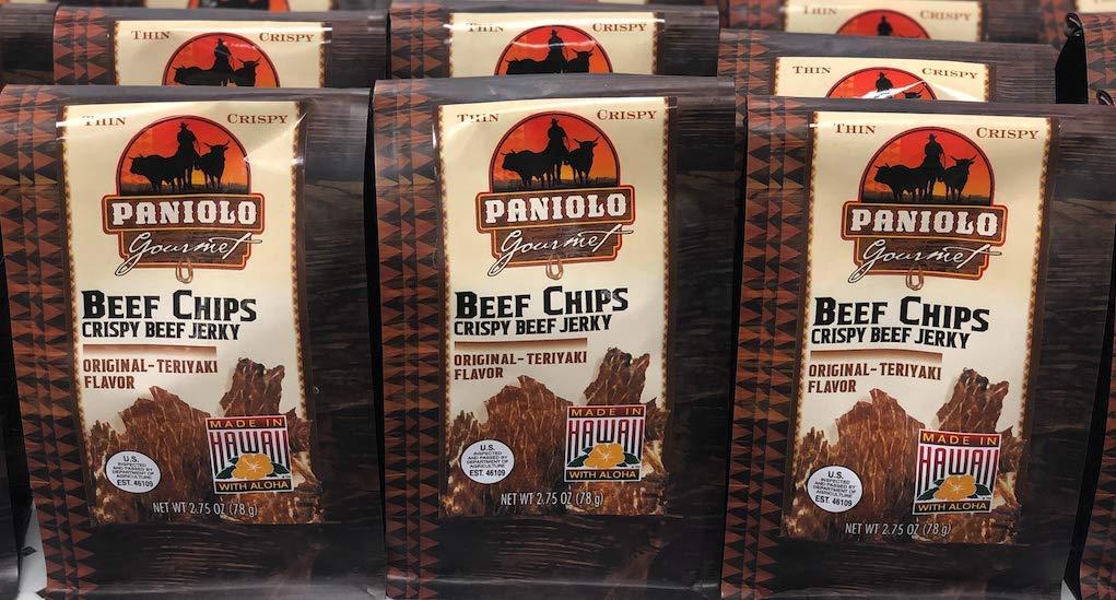 Beef Chips Crispy Beef Jerky ORIGINAL TERIYAKI Flavor, 2.75oz (78g) (1)