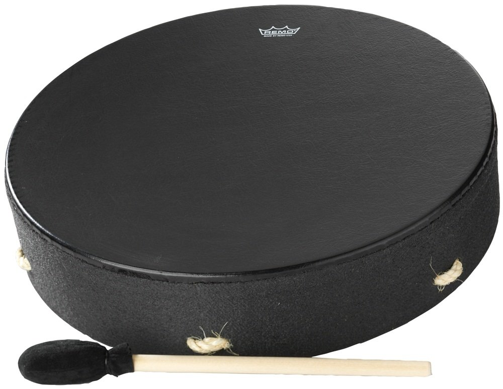 REMO Buffalo, Bahia Buffalo Drum, 16 x 3.5 Fixed Bahia Bass, Black Earth (E1-1316-BE) KMC Music Inc