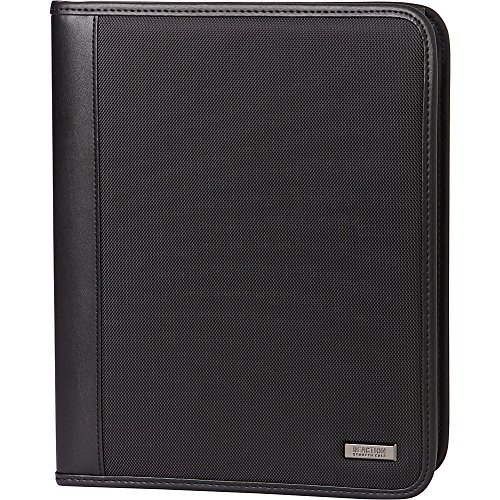 Kenneth Cole Reaction 1680d Polyester Standard Bifold Writing Pad, Black