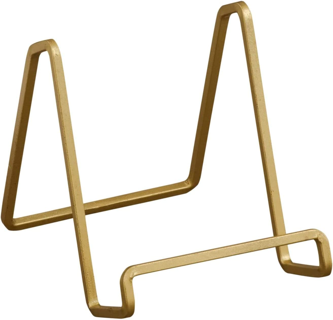 TRIPAR 2 Pack 50224 Square Wire Stand Plate Art Photo Holder, Gold Metal