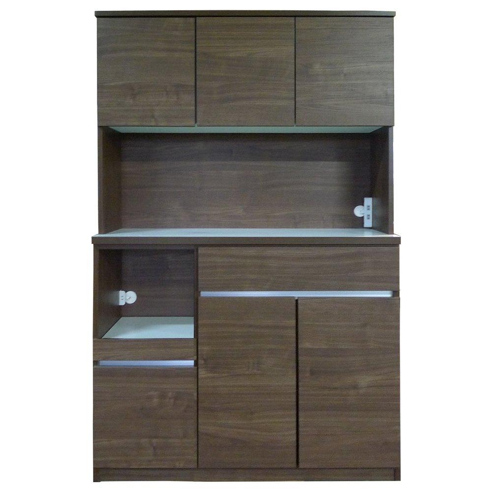 セル 120 オープンボード 食器棚 (モイス付) (ウォールナット)  ウォールナット B075ZH3TWM