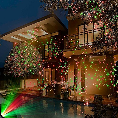 lightess christmas laser lights projector star xmas decorations outdoor indoor holiday landscape lighting red and green laser light for garden party house
