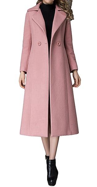 cappotto lungo rosa moda donna
