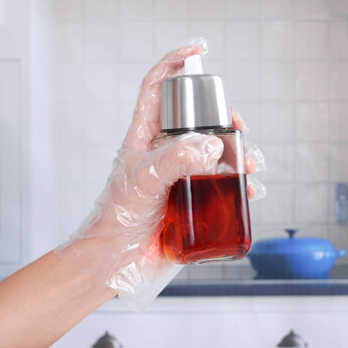 TENDYCOCO 200 Piezas de Guantes de Pl/ástico Desechables para Cocina Casera Restaurante Cocina Limpieza Industrial