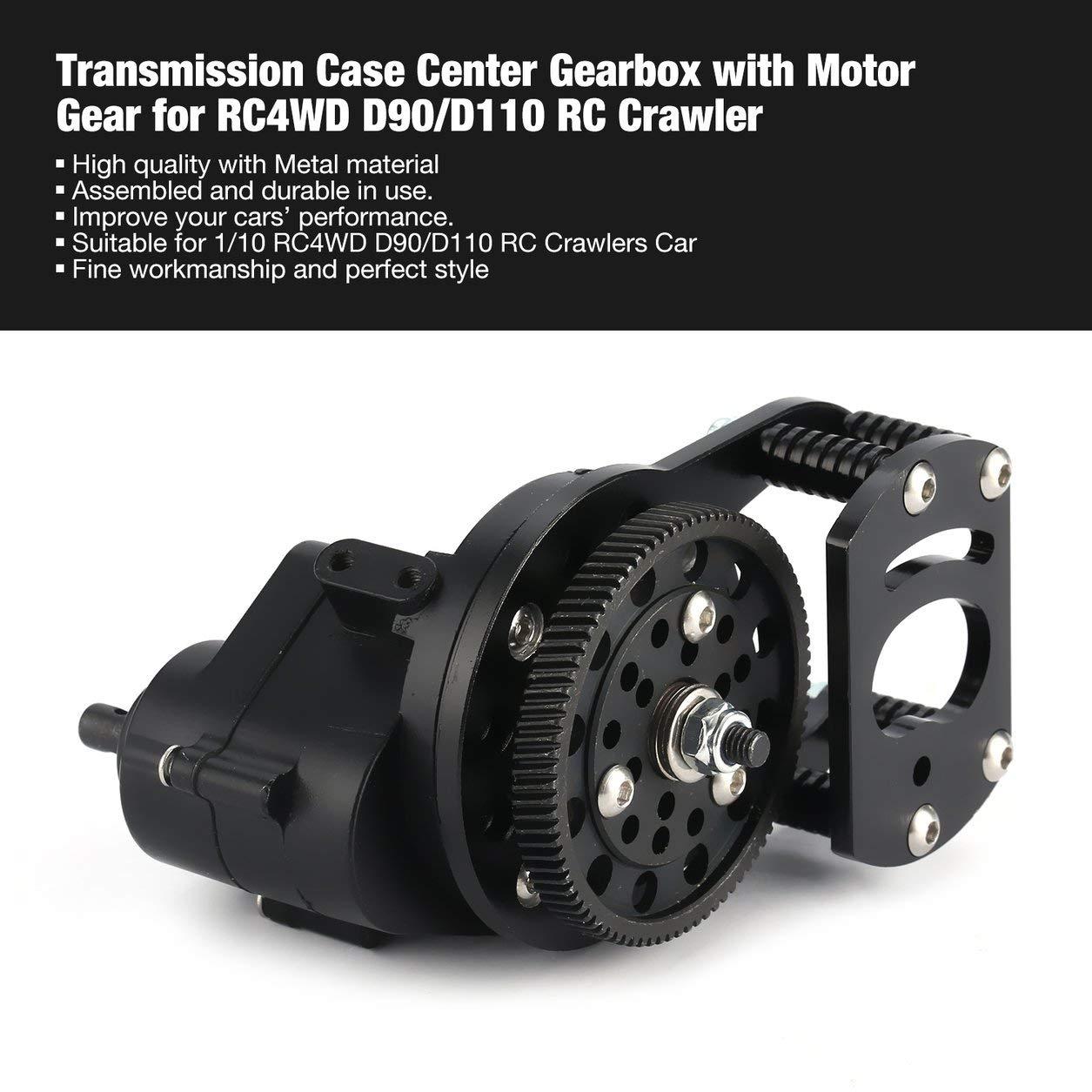 Dailyinshop Getriebe Case Center Getriebe mit Motor Getriebe für RC4WD D90 / D110 RC Crawler, schwarz