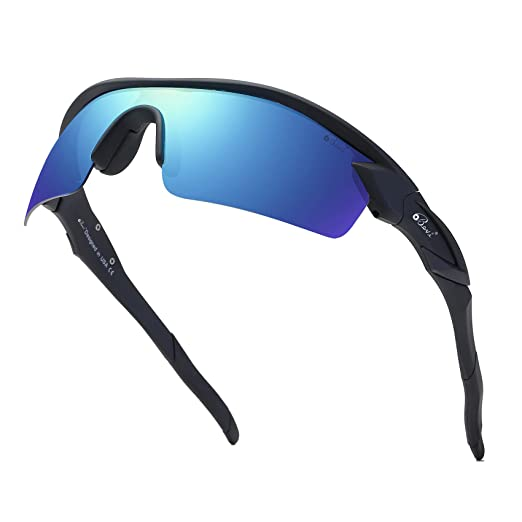 08795dcaf78b Bevi Polarized Sports Sunglasses TR90 Unbreakable Frame for Men Women  Running Cycling Glasses TPH2C2