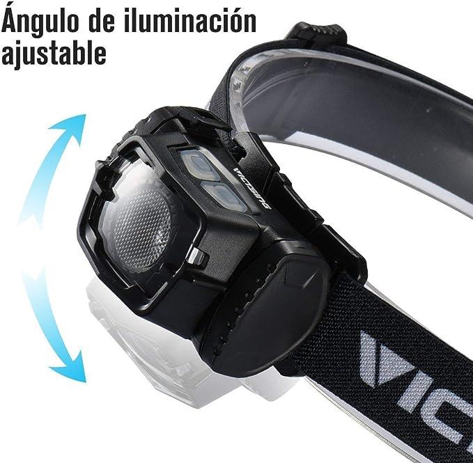 VicTsing Linterna Frontal LED, Frontal LED USB Recargable ...